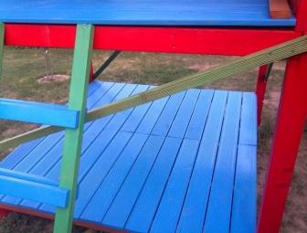 """Gyermek játszótér """"bátran a színekkel"""" 2012 nyár"""